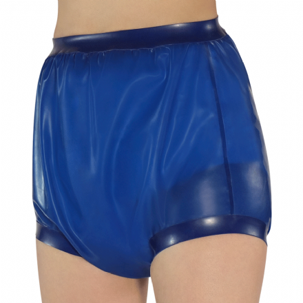 Rubber Pants with wide thigh bands